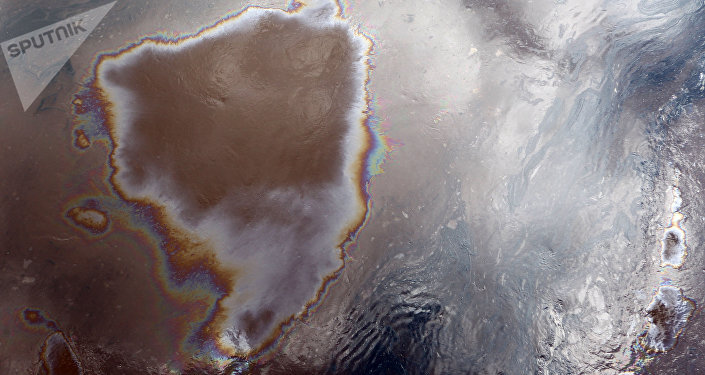Nappe de pétrole (image d'illustration)
