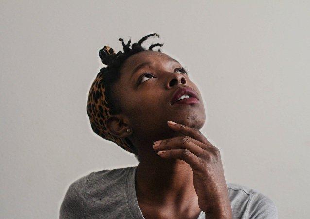 Une Afro-américaine (Image d'illustration)