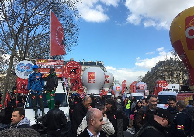 Manifestation syndicale à Paris, 19 mars 2019