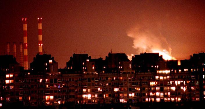 Bombardement de Belgrade par les forces de l'Otan en 1999