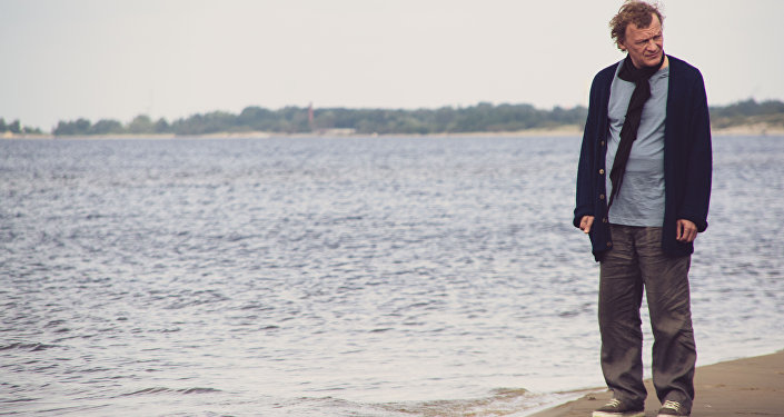 Alexeï Serebriakov lors du tournage du film de Sergueï Livnev Les Van Goghs