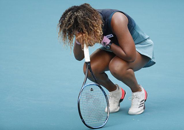 La joueuse de tennis japonaise Naomi Osaka lors du tournoi Premier Mandatory à Miami