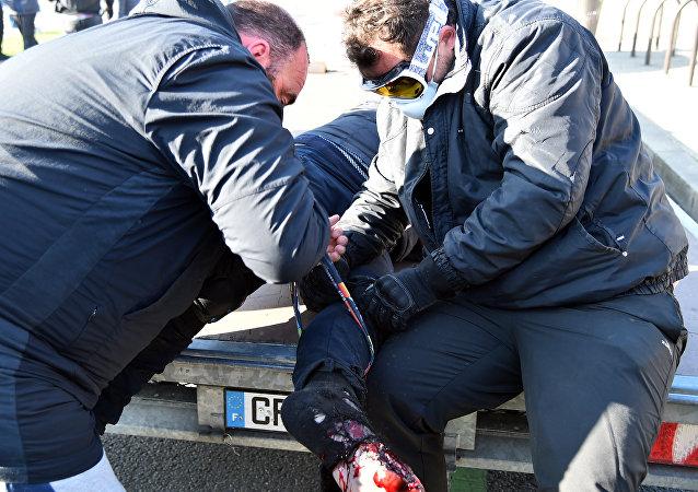un homme blessé au Mans