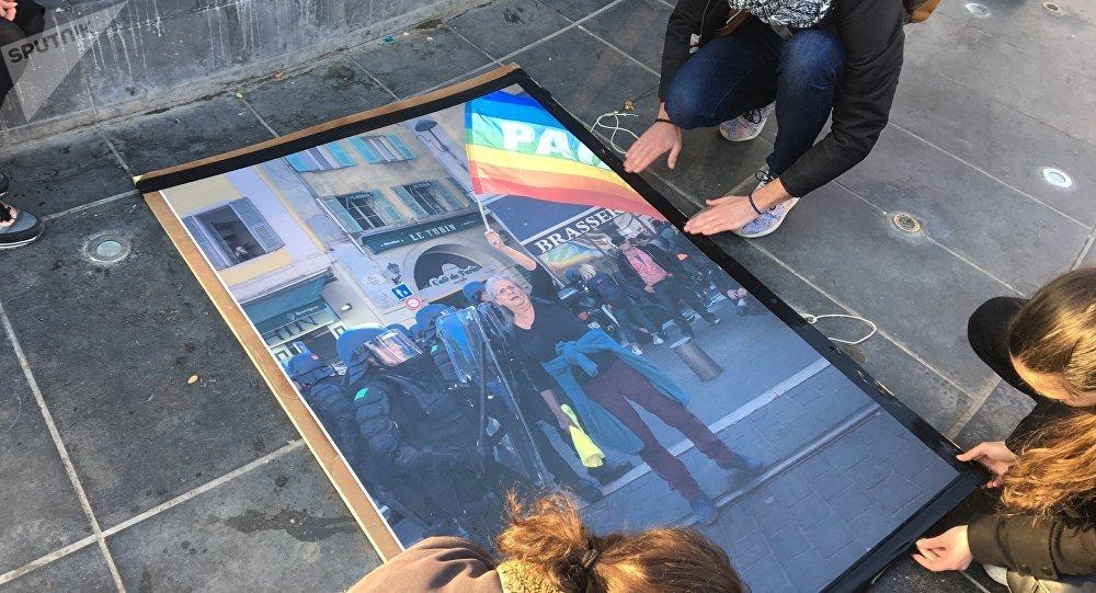 Soutien de Geneviève Legay, place de la République à Paris, 26 mars 2019