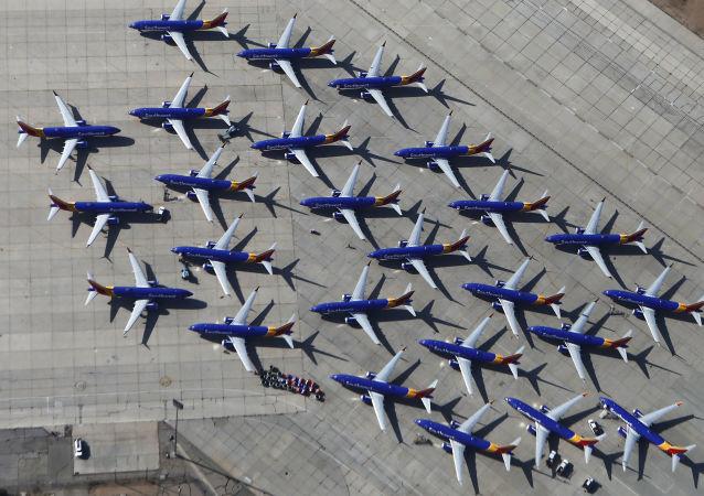 Des Boeing 737 Max à l'aéroport de Victorville, en Californie
