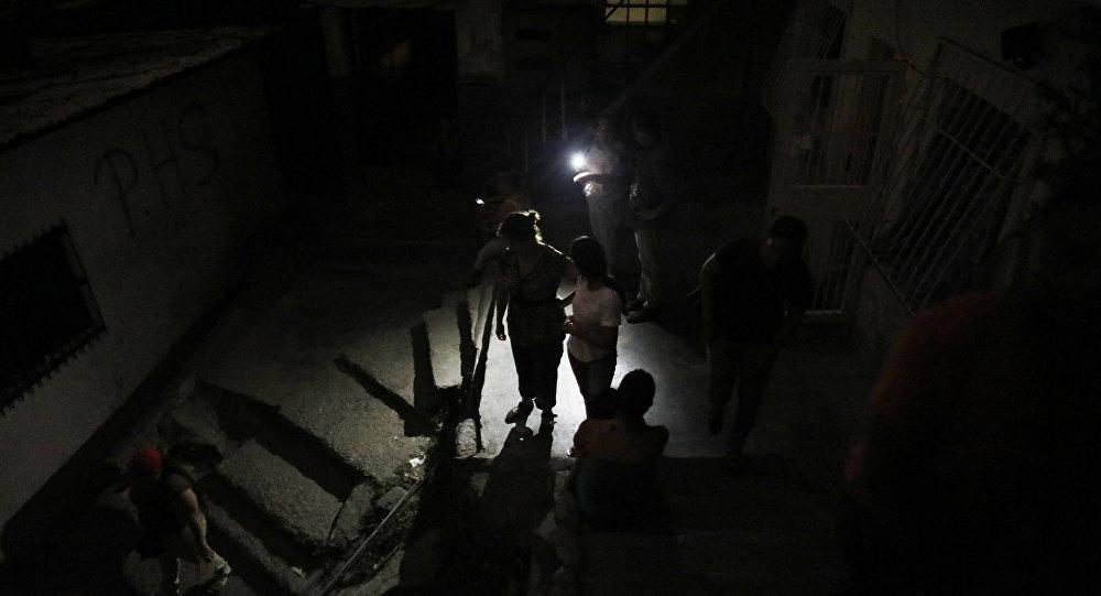Panne d'électricité dans un quartier de  Caracas