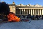 Place de la République à Bordeaux lors de l'acte 20 des Gilets jaunes