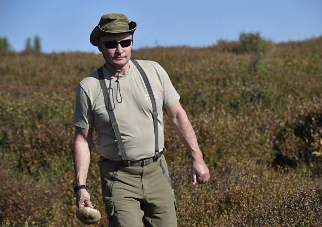 Vladimir Poutine dans la République de Touva (archives)