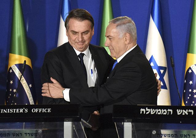 Jair Bolsonaro et Benjamin Netanyahu
