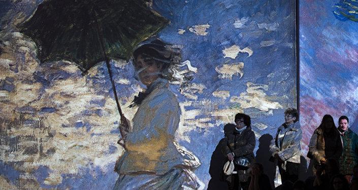 Une exposition des impressionnistes  à Saint-Pétersbourg