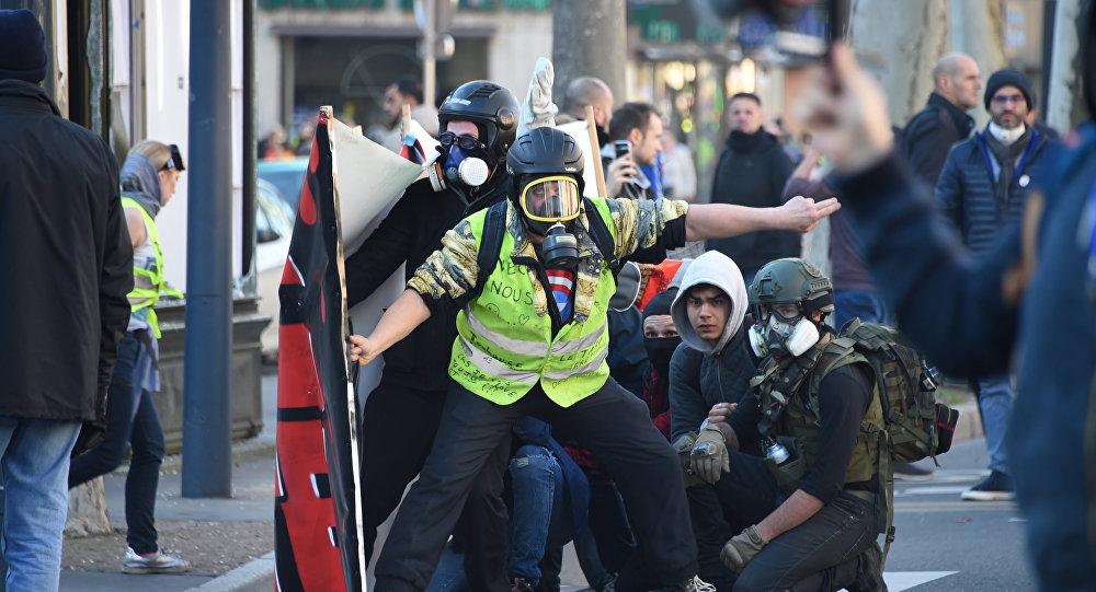 manifestation des Gilets jaunes à Toulouse, image d'illustration