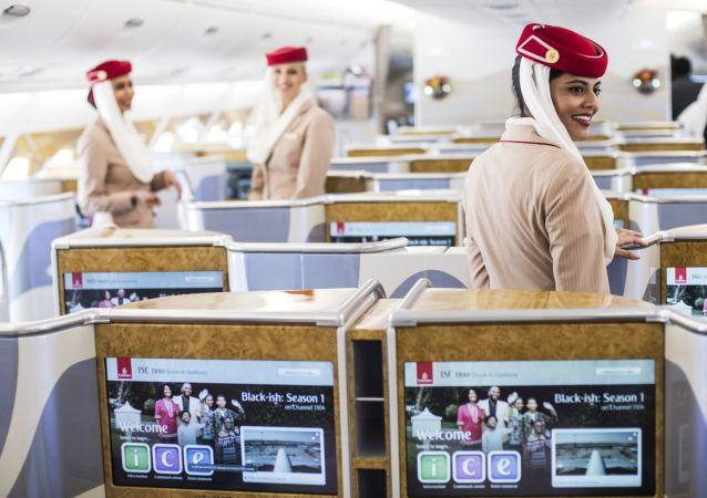 Un avion d'Emirates (Image d'illustration)