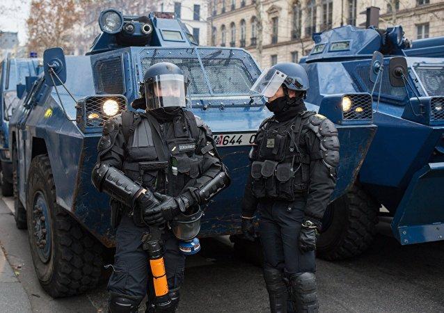 La police française lors d'une manifestation des Gilets jaunes à Paris (photo d'archive)