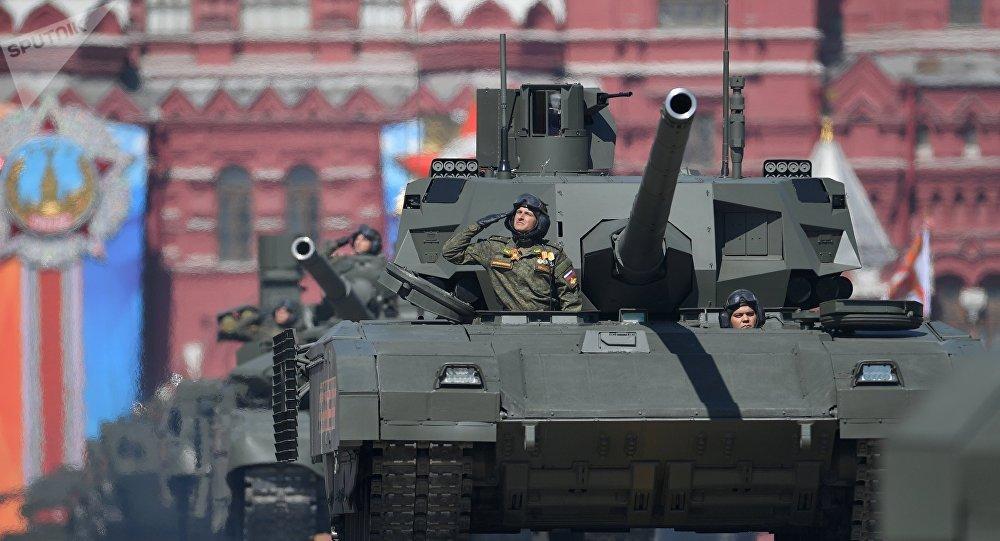 Une défilé militaire sur la place Rouge à Moscou (archive photo)