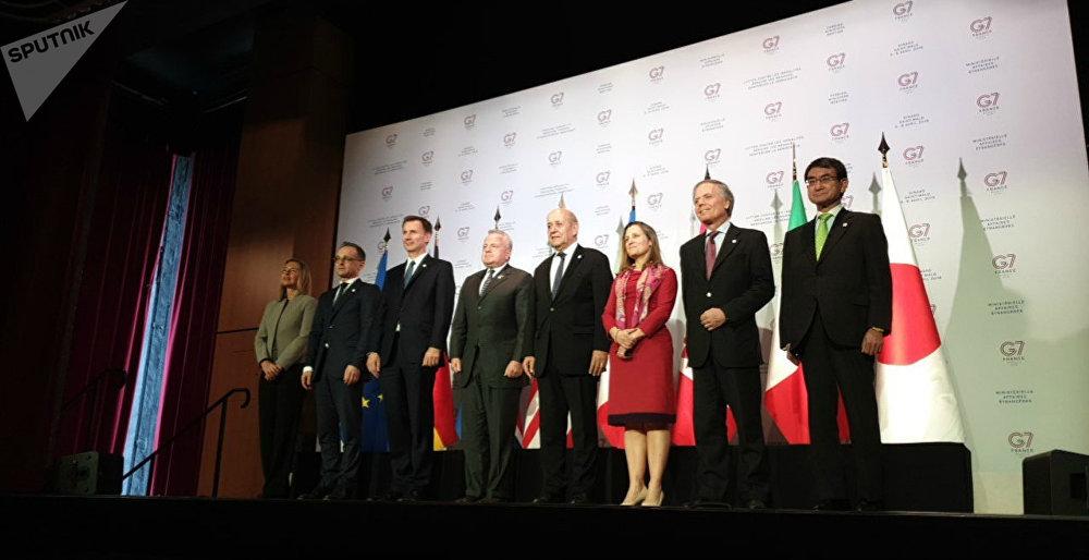 Rencontre des chefs de diplomatie du G7 en France