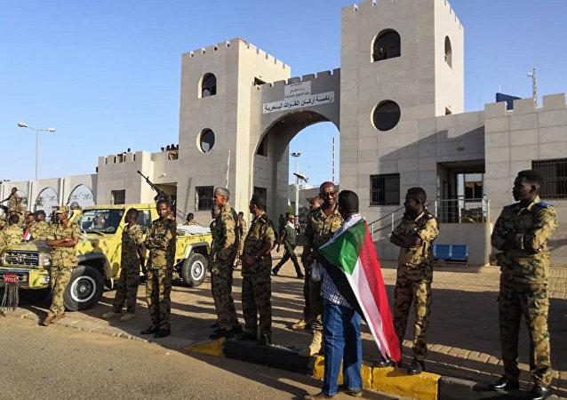 manifestants à Soudan