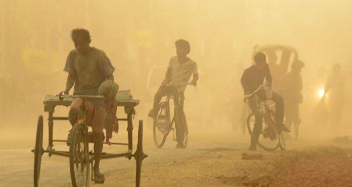 une tempête de sable en Inde (image d'illustration)