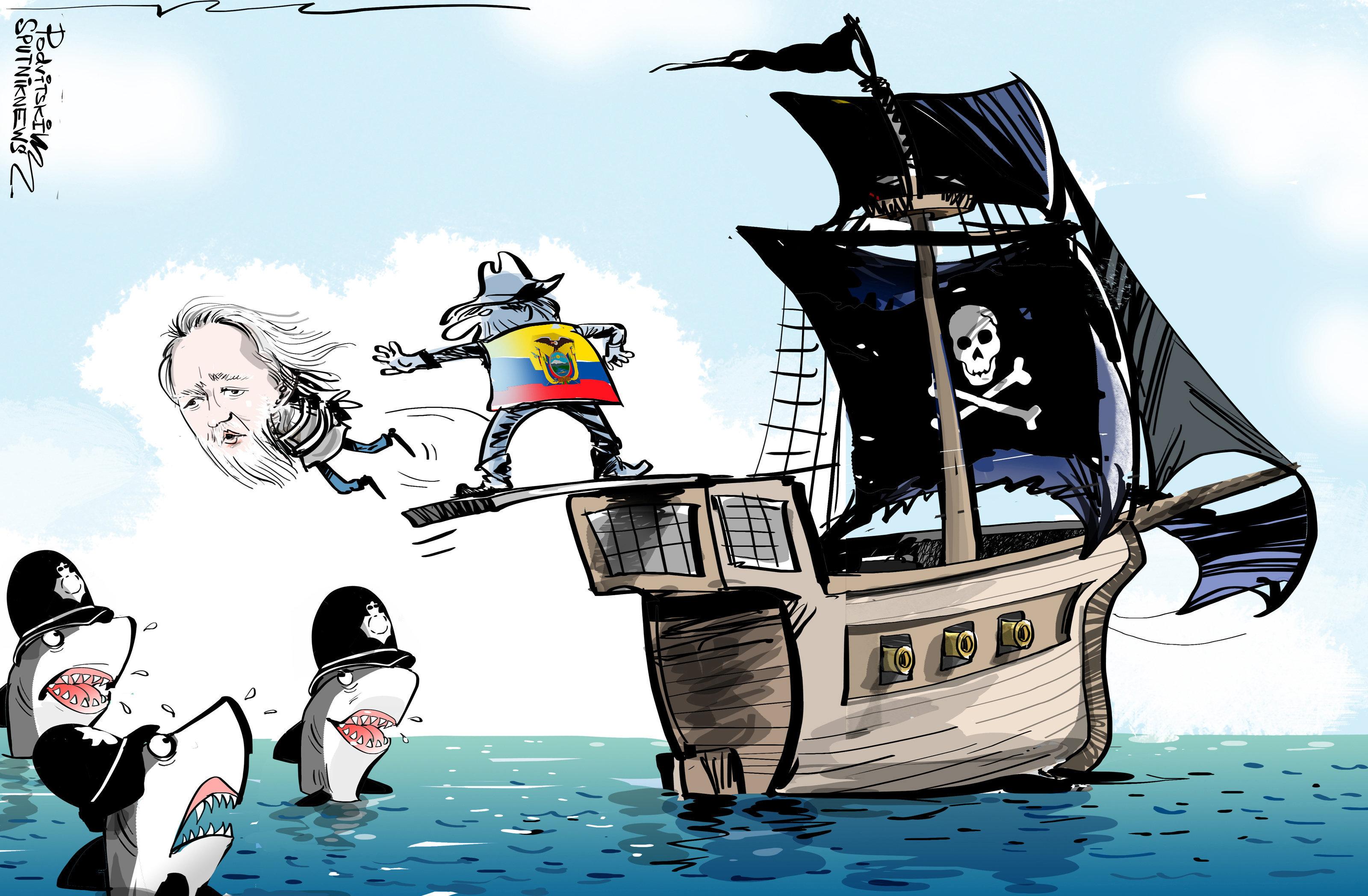 Julian Assange a été arrêté ce 11 avril dans l'ambassade d'Équateur à Londres