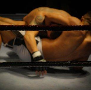 Una lucha de MMA (archivo)