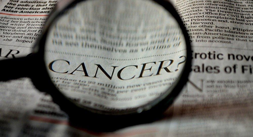 Le mot Cancer dans un journal (image de référence)