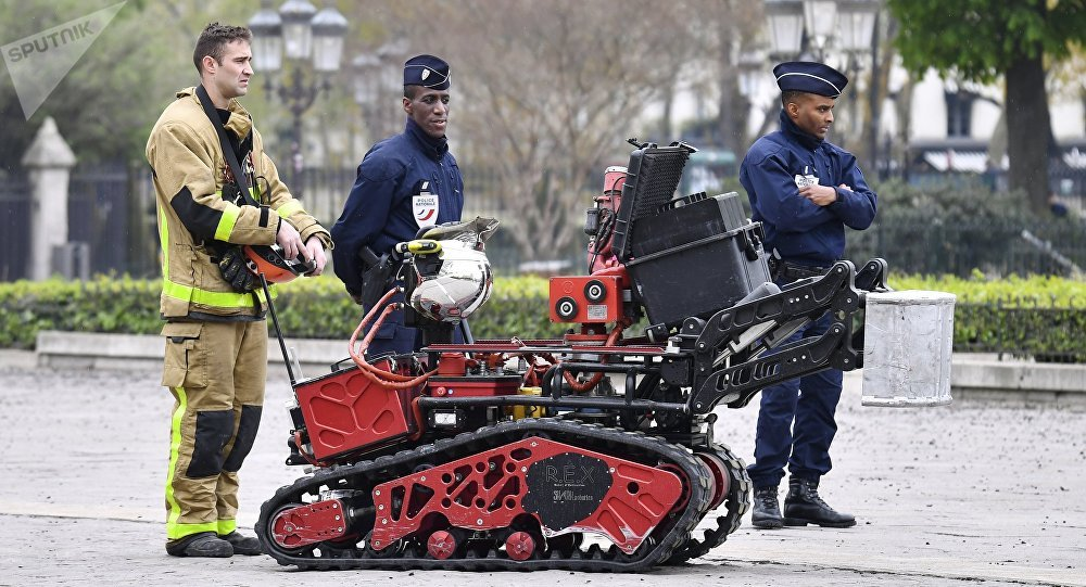 Notre-Dame: le robot «Colossus»
