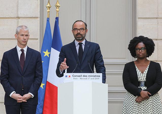 Franck Riester, Édouard Philippe et Sibeth Ndiaye