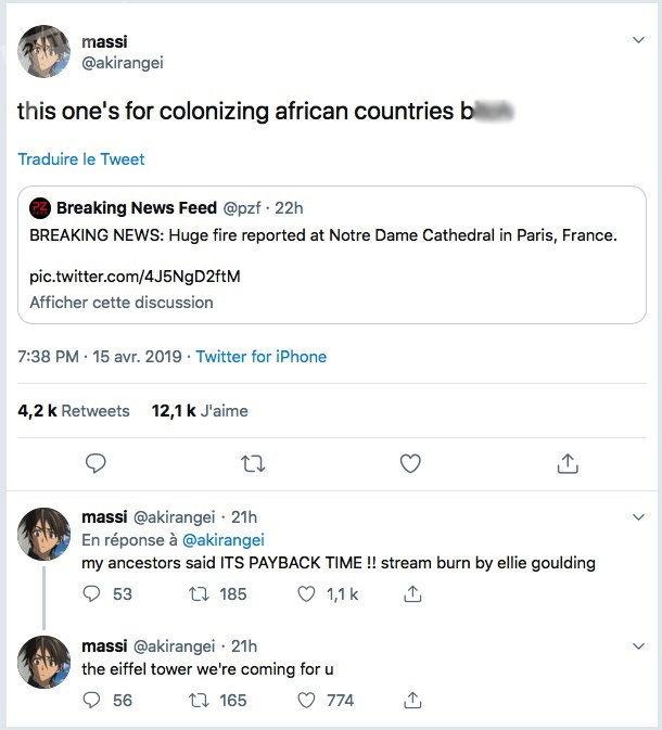 Capture d'écran: Twitter