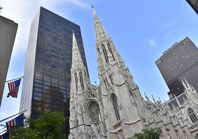 A picture shows the Saint-Patrick Cathedral, downtown Manhattan, on July 2, 2017 in New York City.
