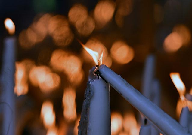 bougies dans l'église