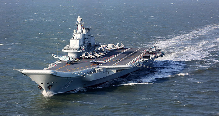 Le porte-avion chinois Liaoning (archive photo)