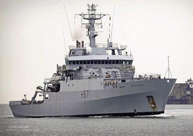 Le HMS Echo (photo d'archive)