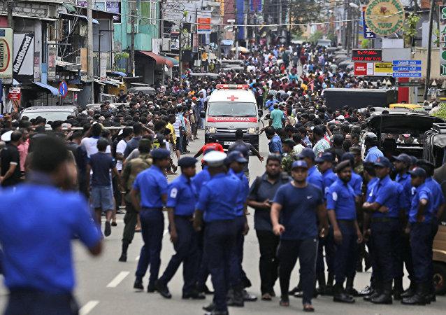 Une ambulance au Sri Lanka