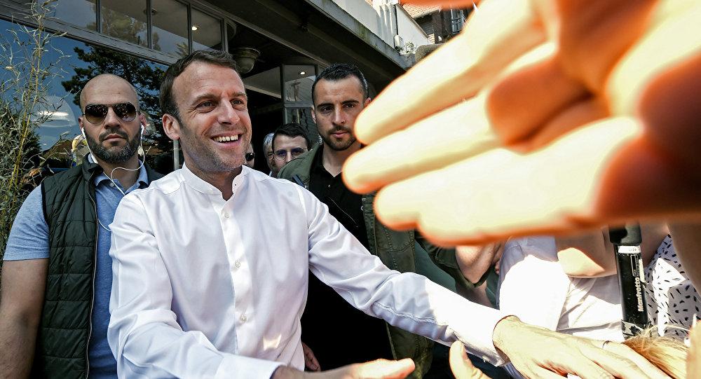 Emmanuel Macron au Touquet le 21 avril 2019