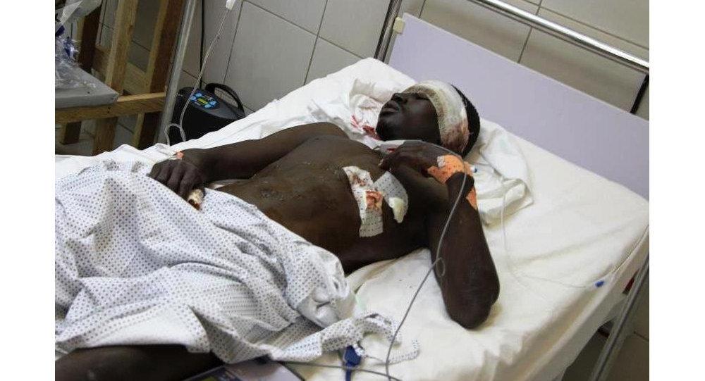 Hôpital à Maroua, après une attaque à la bombe au village de Mora, le 21 août 2006