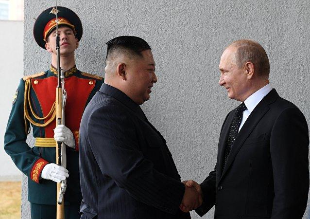 Kim Jong-un et Vladímir Poutine