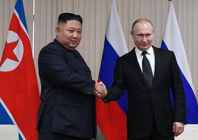 Kim Jong-un et Vladimir Poutine