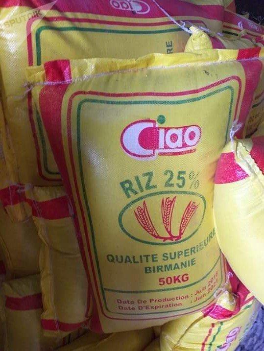 Riz avarié importé de Birmanie dans le port d'Abidjan