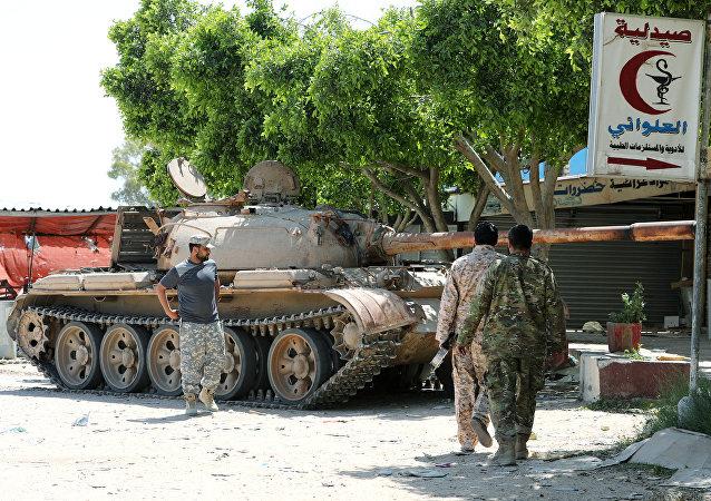 Membres des forces du gouvernement d'el-Sarraj à Tripoli