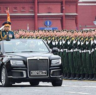 Défilé militaire sur la place Rouge à Moscou pour fêter les 74 ans de la Victoire