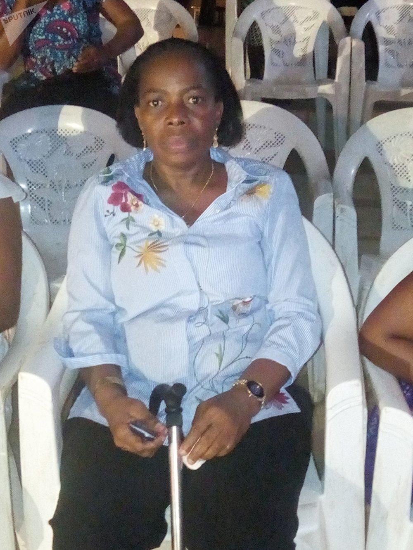 Anne-Cécile Konan, présidente de l'union nationale des femmes handicapées de Côte d'Ivoire @ Sputnik Roland Klohi