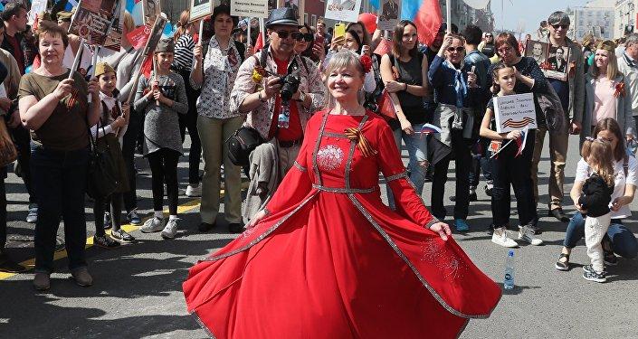 La marche du Régiment des immortels à Moscou