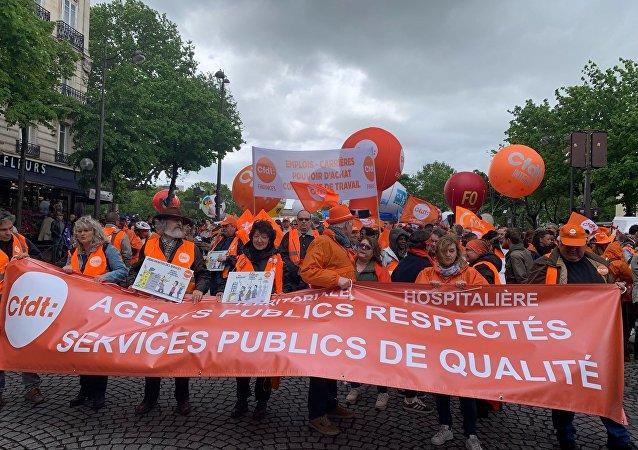 Manifestation syndicale, le 9 mai