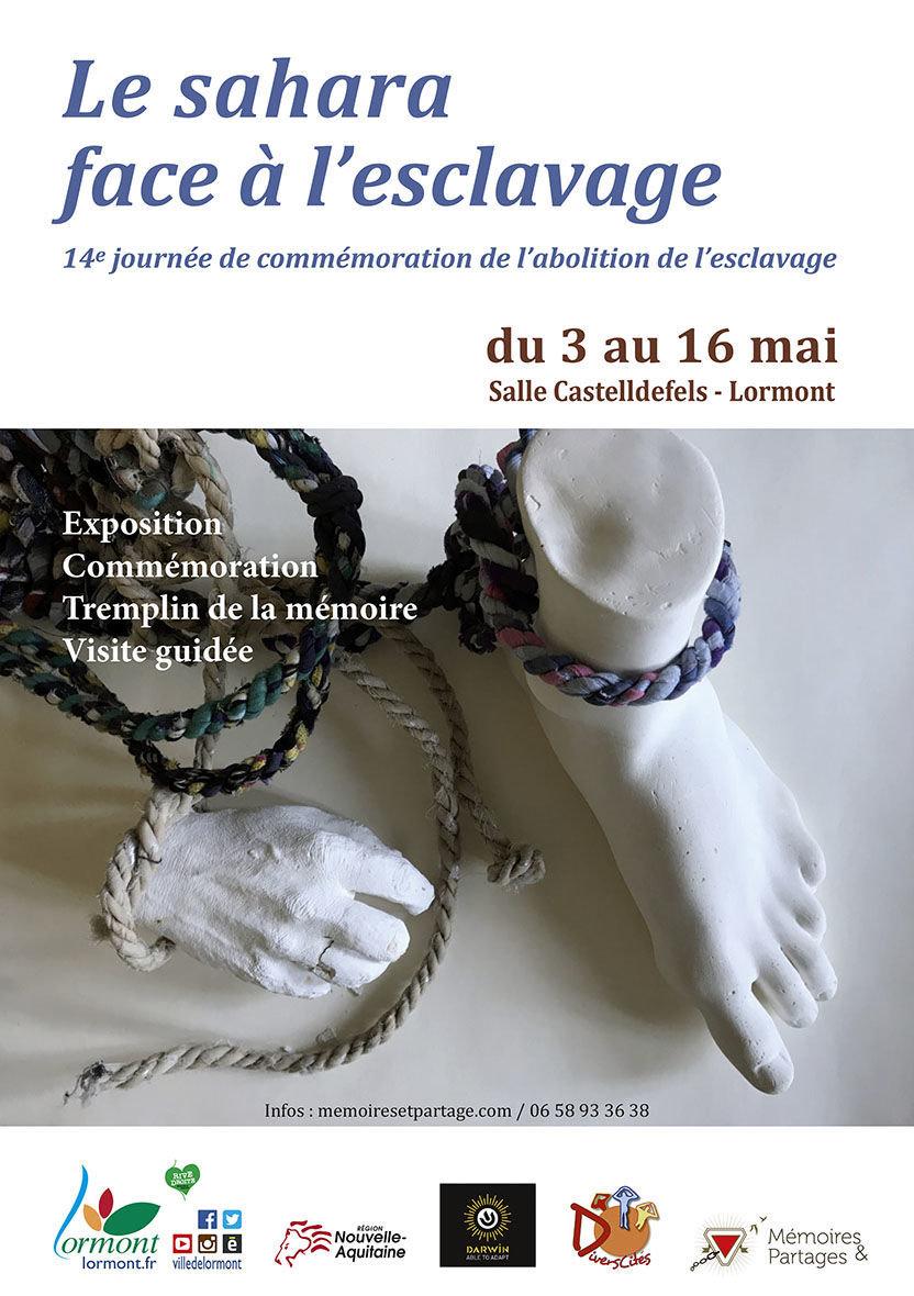 Affiche de la Fondation Mémoires & Partages pour la célébration du 10 mai 2019