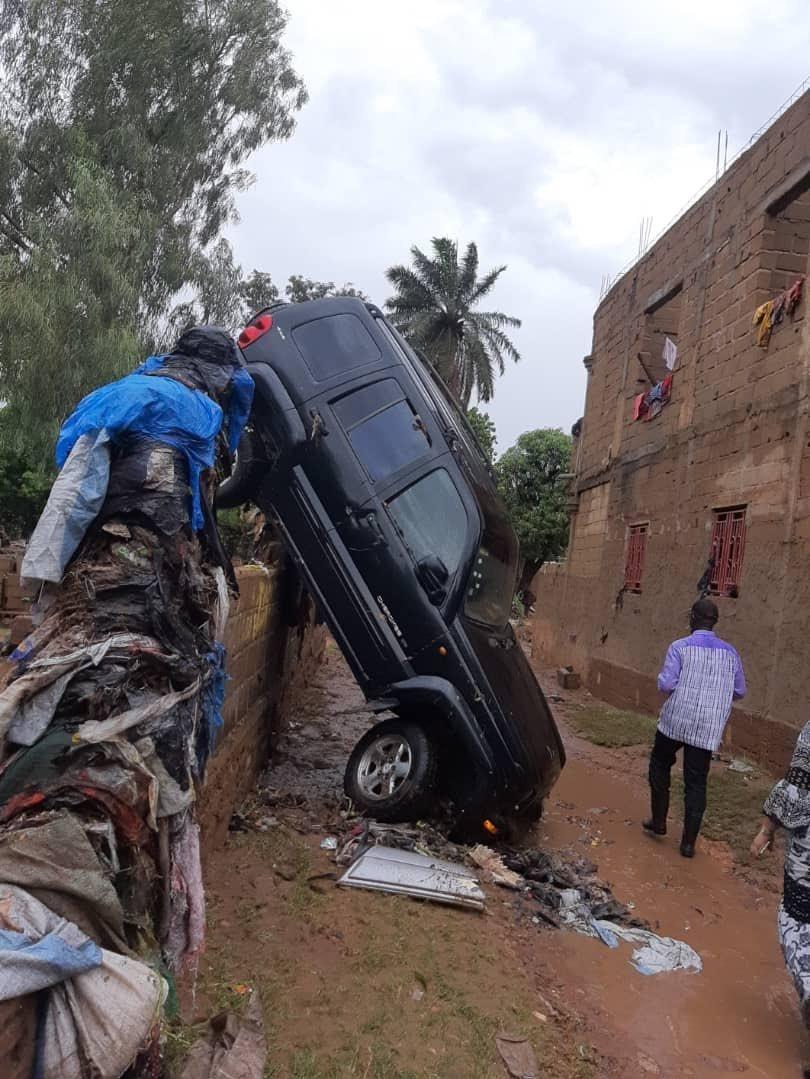 Dans un quartier de Bamako, après de fortes pluies, le 16 mai 2019.