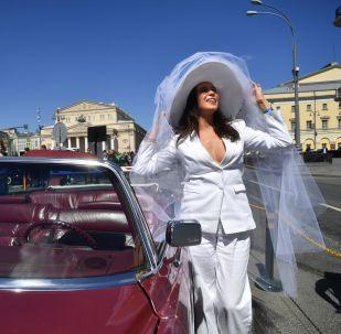 Rallye de véhicules anciens à Moscou