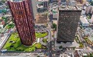 Une vue aérienne du Plateau, quartier des affaires d'Abidjan