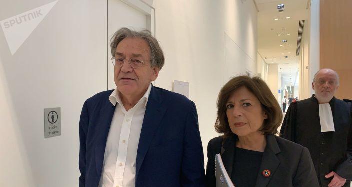 Le philosophe Alain Finkielkraut et sa femme