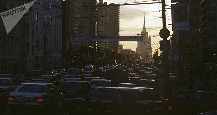 Nouvelle rue Arbat à Moscou, 1997