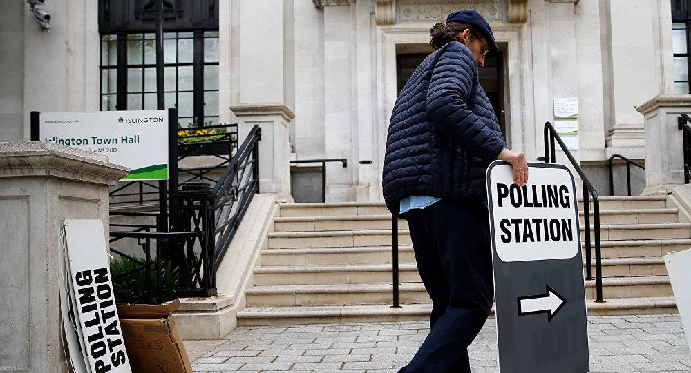 Préparation aux élections européennes à Londres, le 23 mai 2019