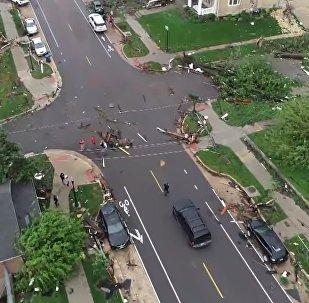 Nature en colère: les conséquences d'une tornade qui a rasé la ville US de Jefferson City